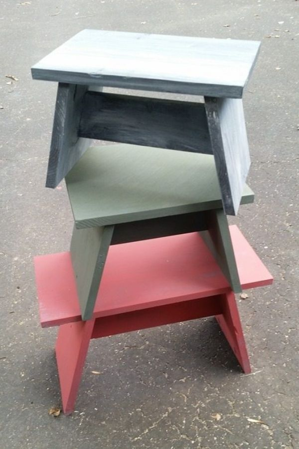 Benches And Stools With One Board