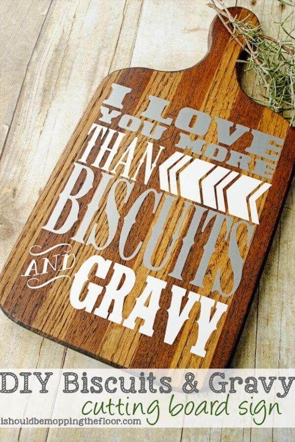 Biscuits Gravy Cutting Board