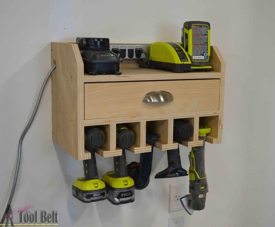 Cordless Drill Storage – Charging Station