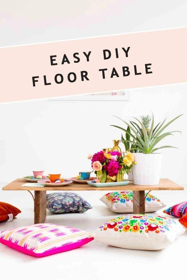 DIY Floor Table