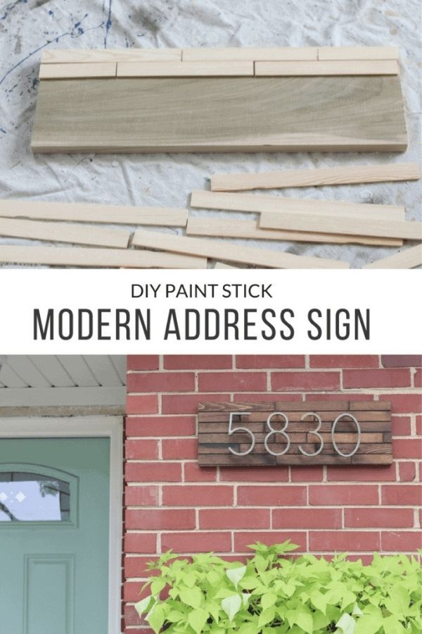 DIY Modern Address Plate