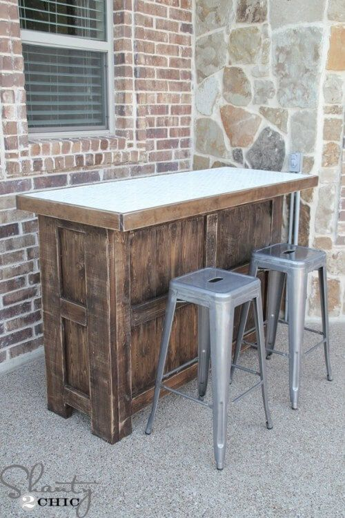 DIY Tiled Bar