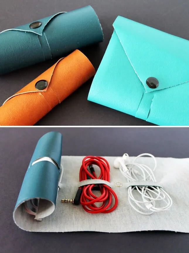 Fashionable Way to Roll Up Cords