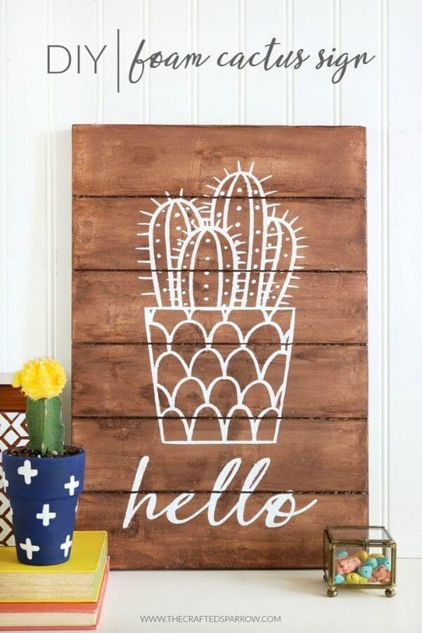 Foam Cactus Sign