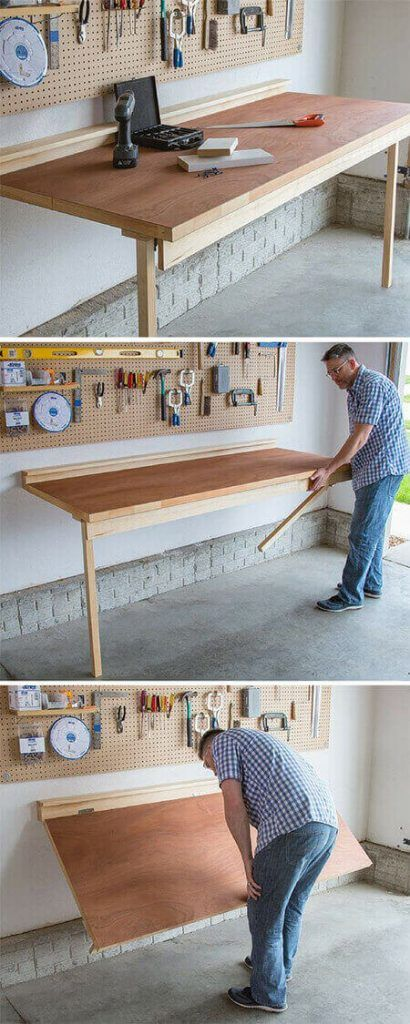 Fold-Down Worktable
