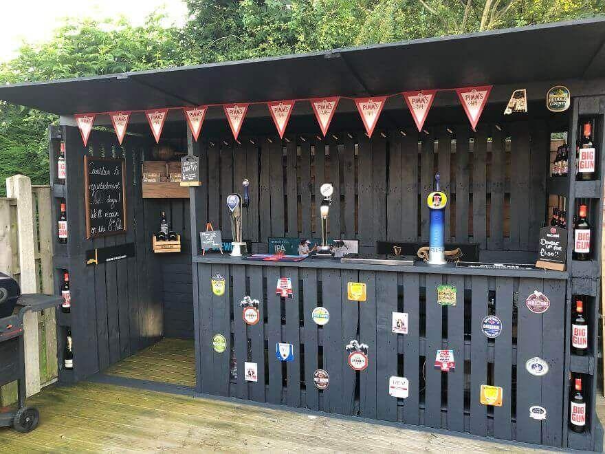 Homemade Garden Bar