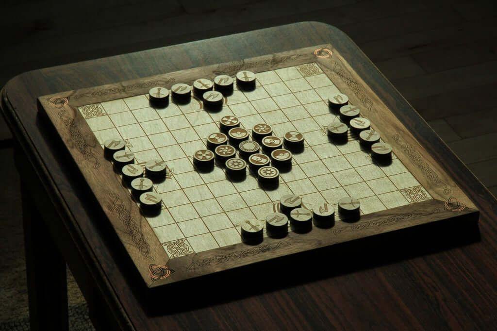 Magnetic Hnefatafl Board Game