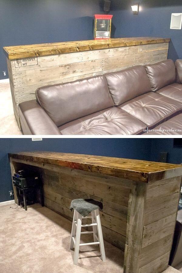 Man Cave DIY Wood Pallet Bar
