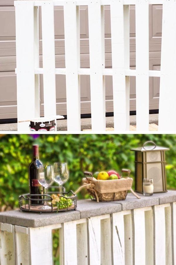 Outdoor Pallet Bar - DIY Joy