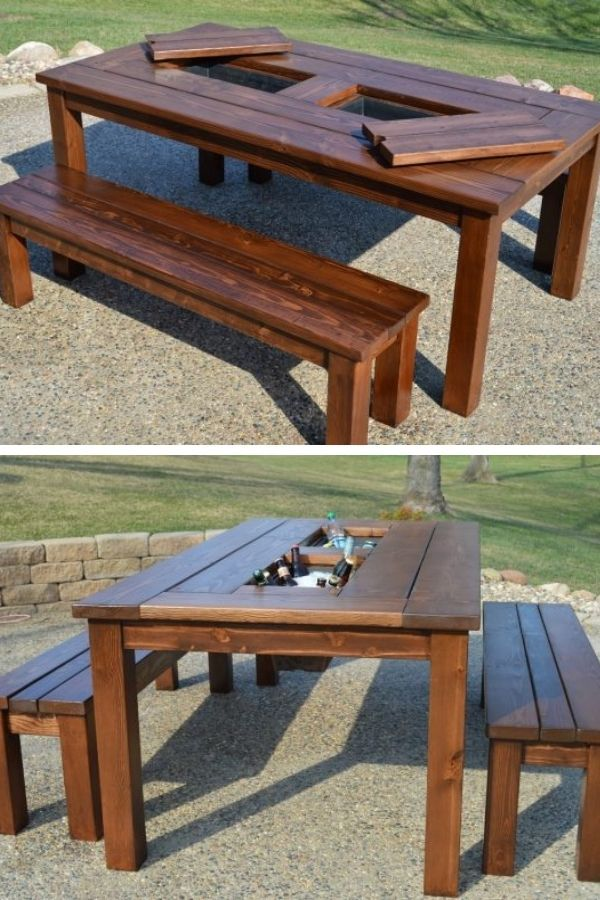 Patio Cooler Table