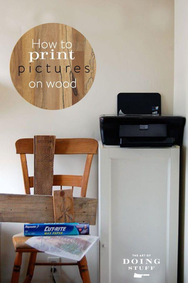 Print Image on Wood