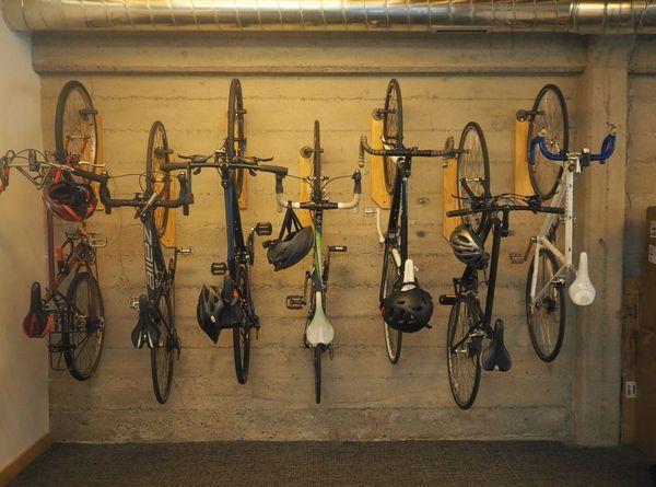 Reclaimed Wood Wall Bike Hanger