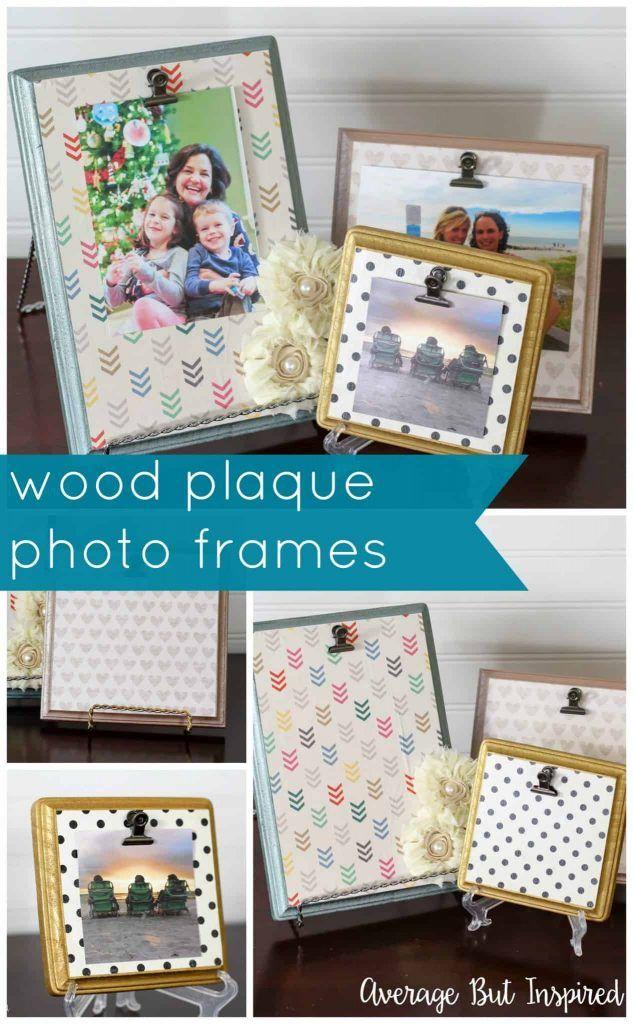 Wood Plaque Picture Frames