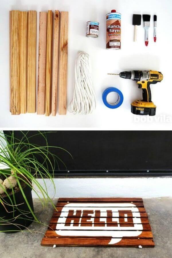 Wood-Slat Doormat