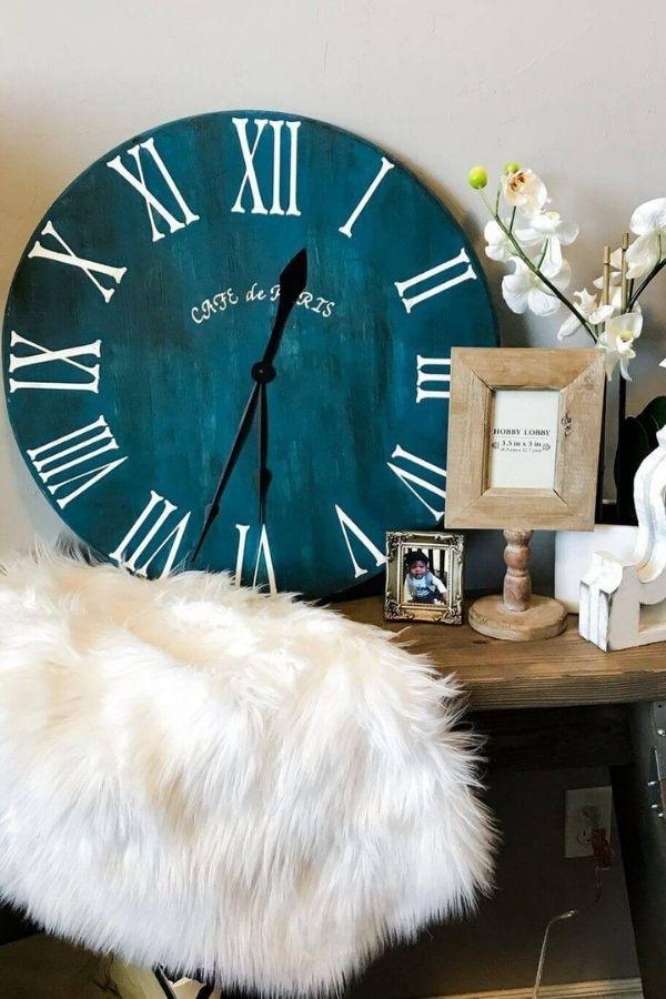 Wooden Rustic Clock