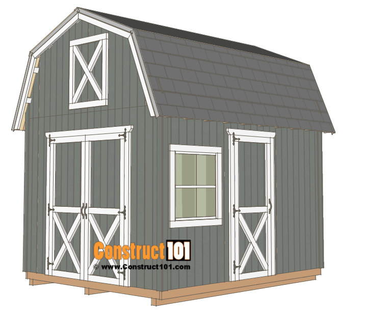 10×12 Barn Shed Plans - Construct 101