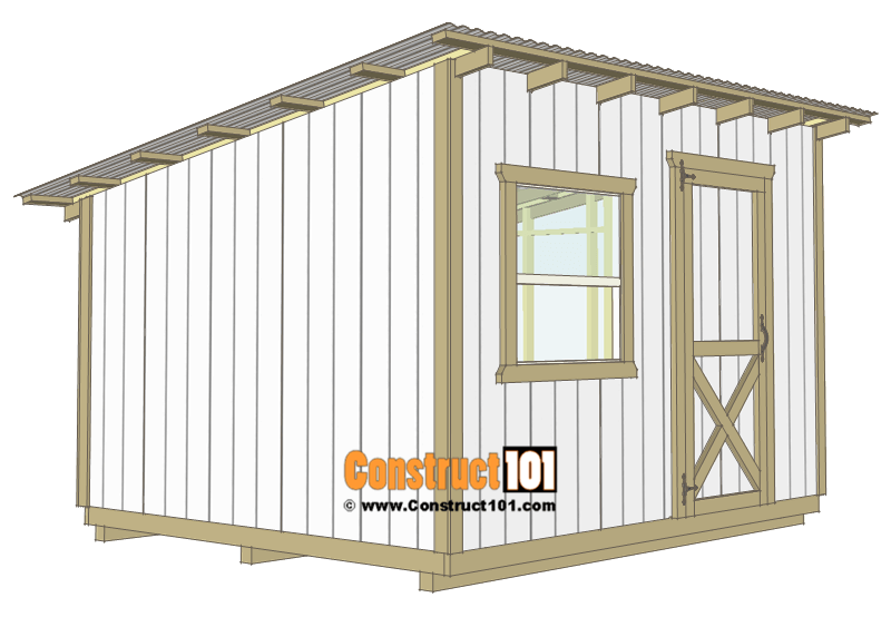 10×12 Lean To Shed