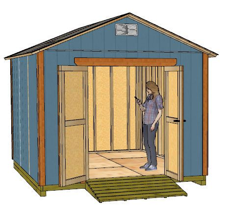 10x12 Gable Shed Plans - Shedking