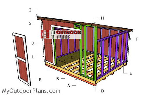10x12 Lean To Shed - My Outdoor Plans