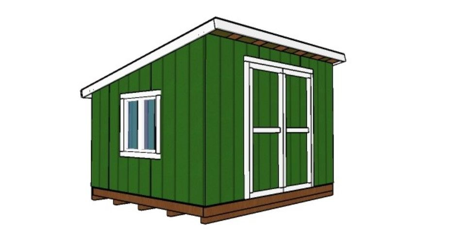 10x12 Lean To Shed Plans - Garden Plans Free