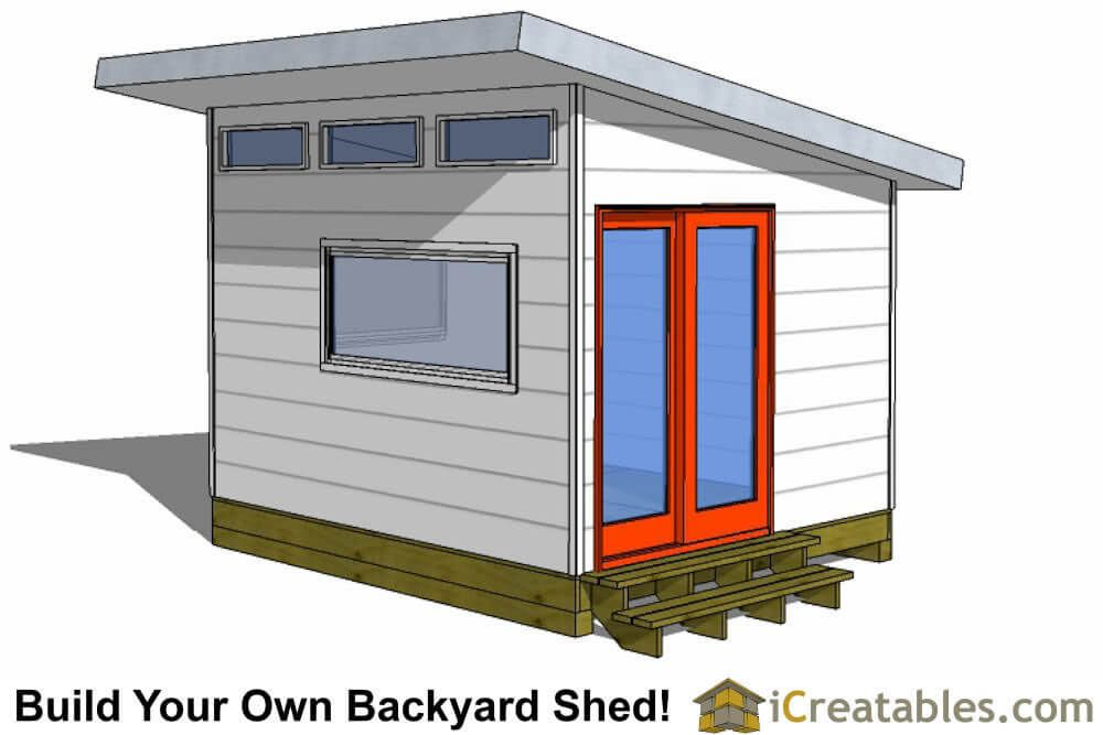 10x12 Modern Shed Plans