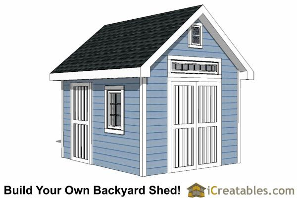 10x12 Traditional Shed Plan
