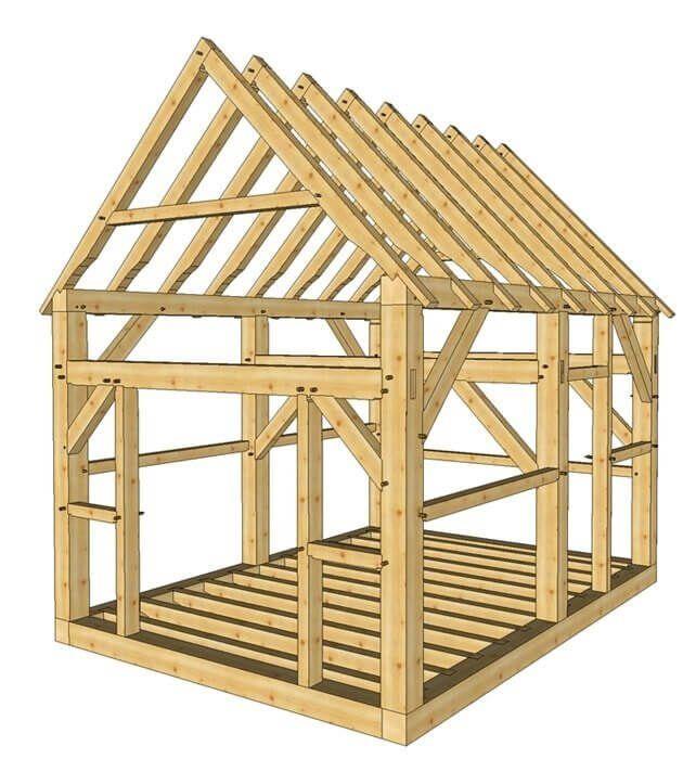 12×16 Timber Frame Shed