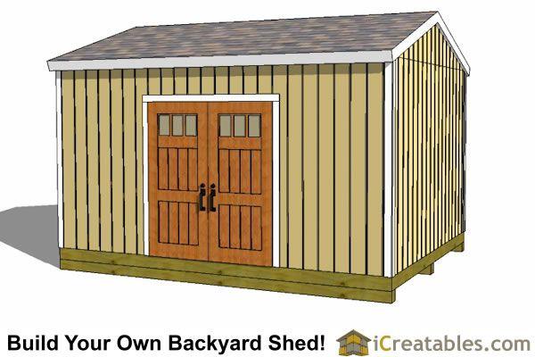 12x16 Backyard Shed Plan