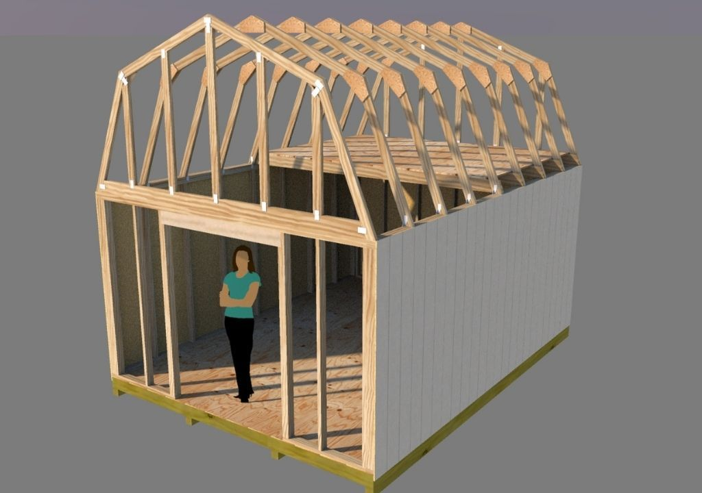 12x16 Barn Plans - Shedking