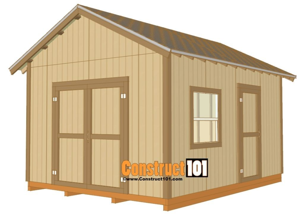 12x16 Gable Design Shed Plan
