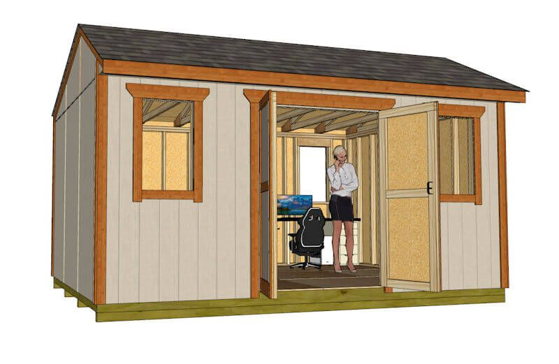 12x16 Saltbox Shed Plan