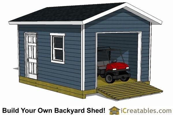 12x16 Shed Garage Door