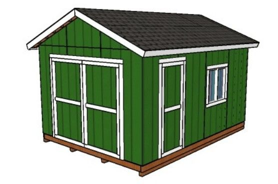 12x16 Shed Plans - Gable Shed