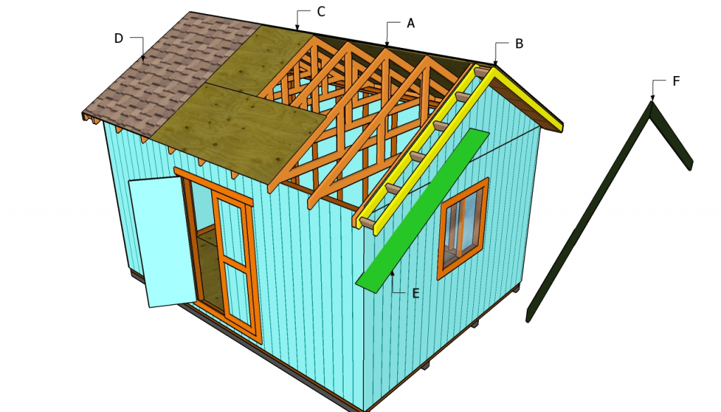 12x16 Shed Roof