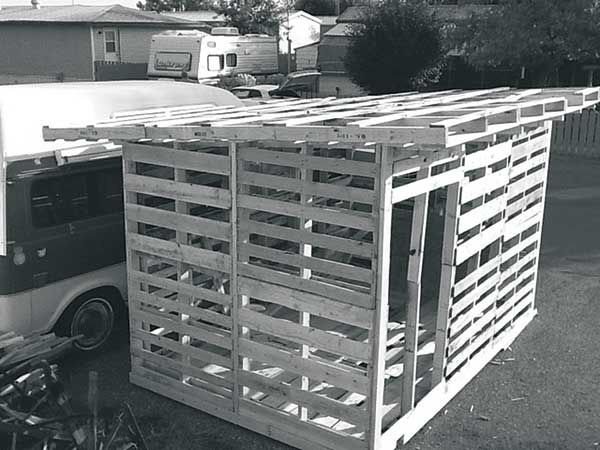 8x12 Pallet Garden Shed