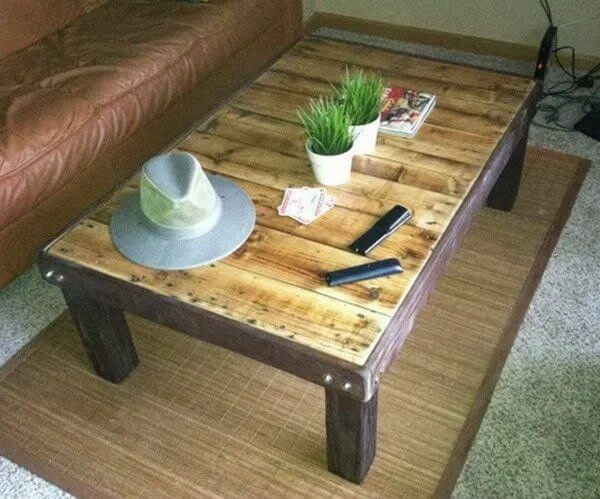 Basic Pallet Coffee Table With Easy Low Cost