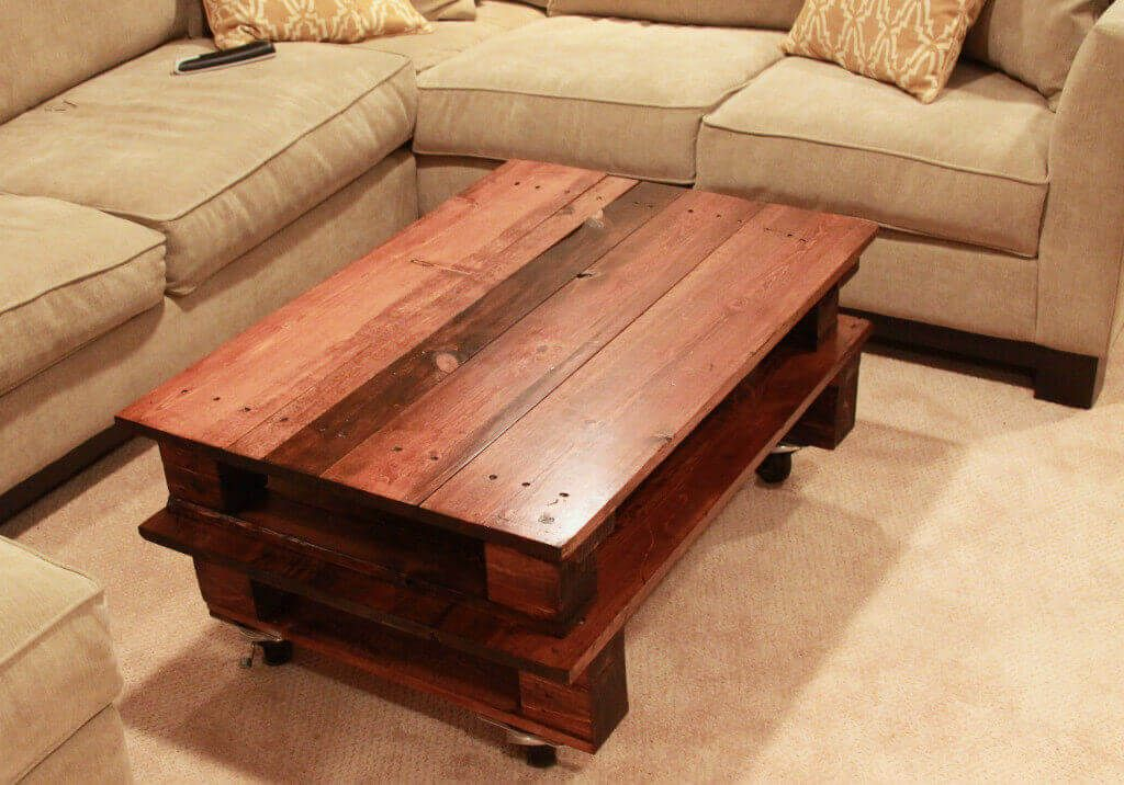 Brow Lacquer Pallet Coffee Table