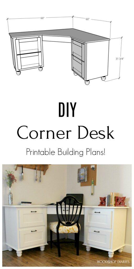 DIY Corner Desk Elegant