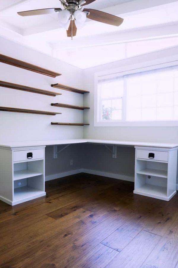DIY L Shaped Desk - Home Office