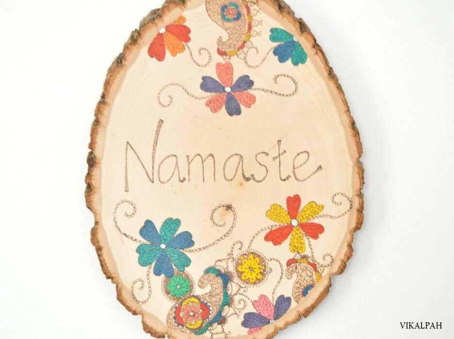 DIY Namaste Sign