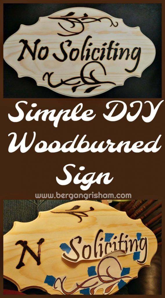 DIY Wood Burned Sign