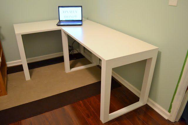 Easy DIY Craft L Shape Desk