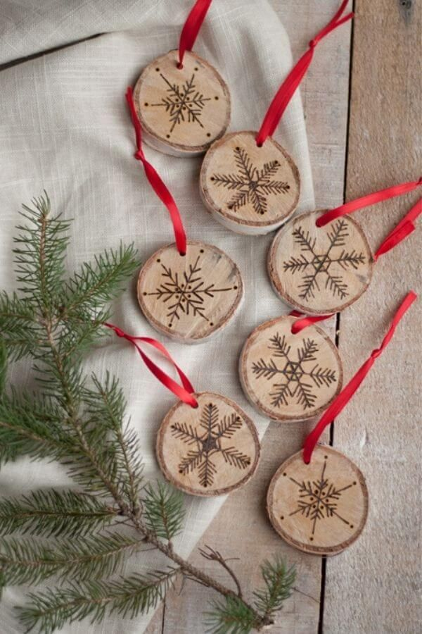 Etched Snowflake Ornaments