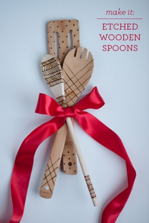 Etched Wooden Spoons
