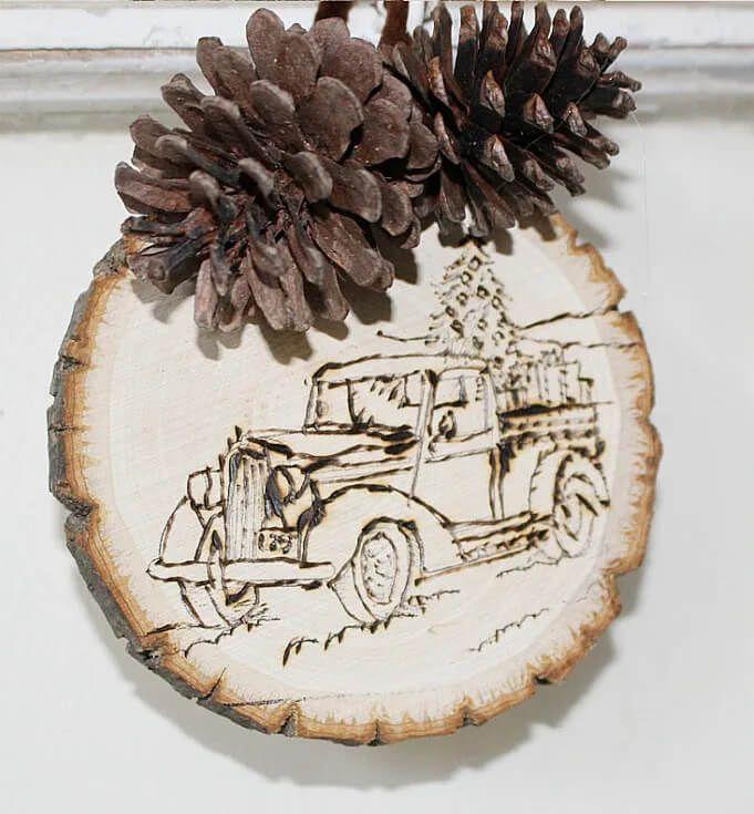 Farmhouse Style Christmas Ornament