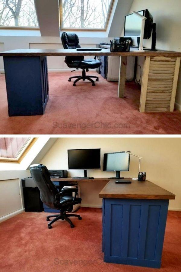 File Cabinet L-Shaped Desk