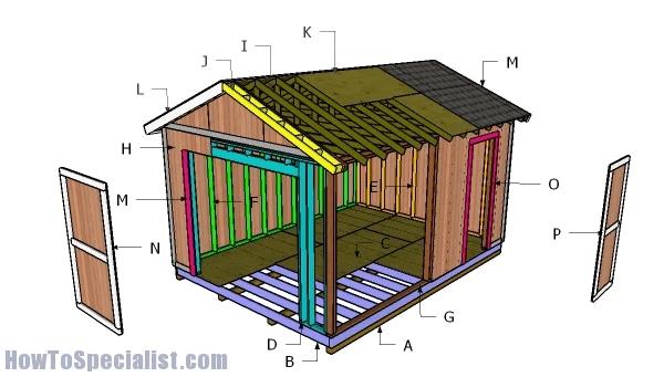 Free 12x16 Garden Shed Plan