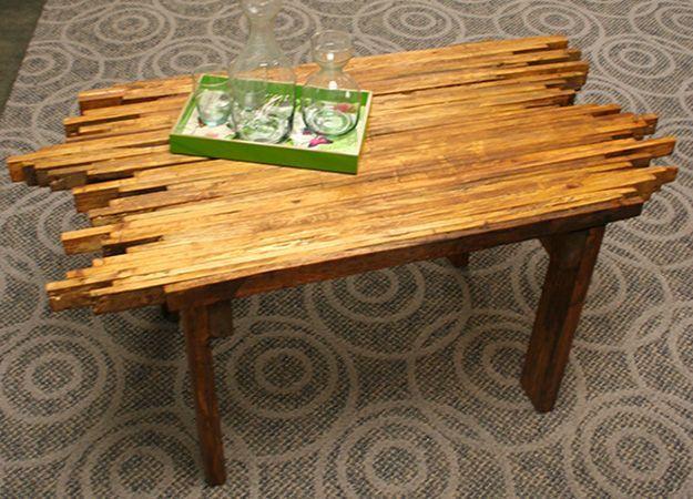 Fun Rustic Pallet Coffee Table