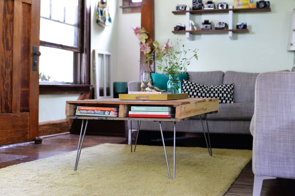 Hairpin Legs Pallet Coffee Table