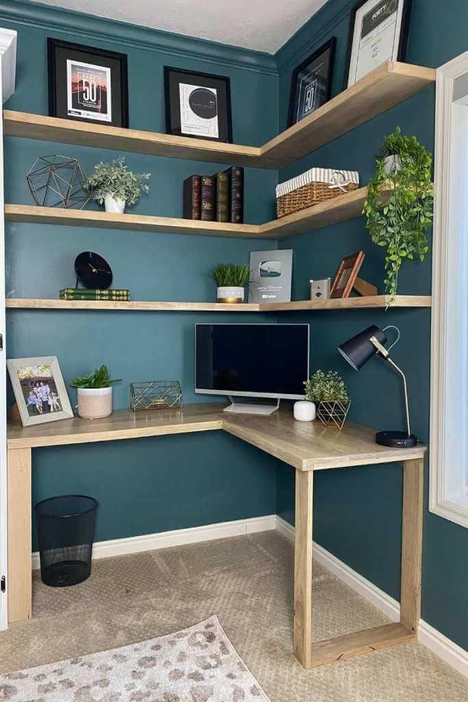 Herringbone L-Shaped Corner Desk